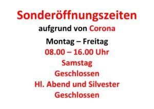 thumbnail of Sonderöffnungszeiten Corona