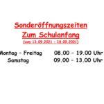 thumbnail of Sonderöffnungszeiten Schulanfang